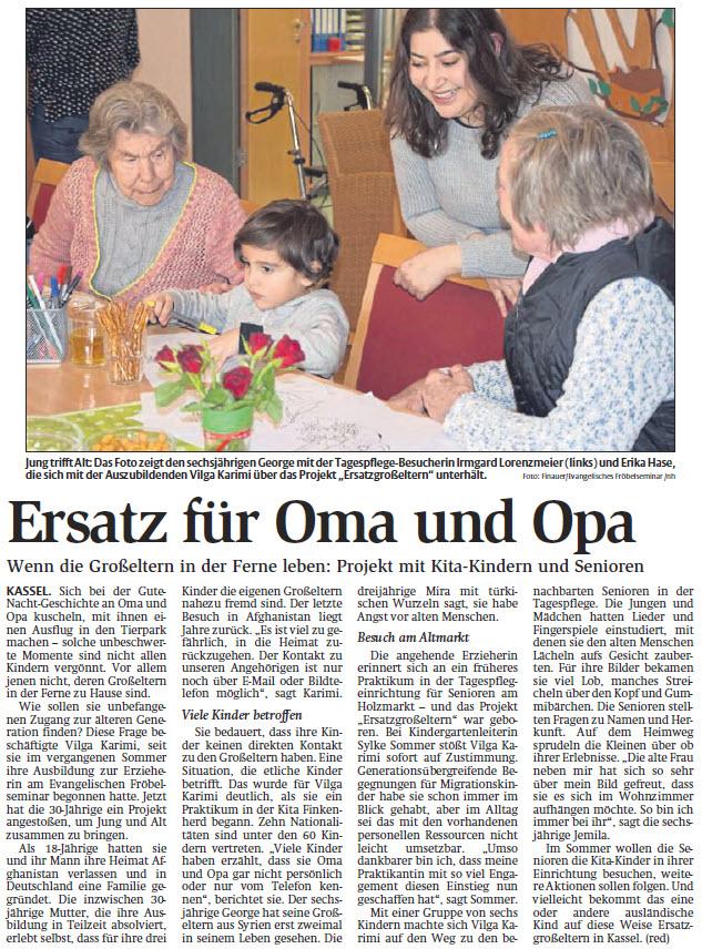 HNA-Bericht -Ersatz für Oma und Opa- vom 20.04.2018